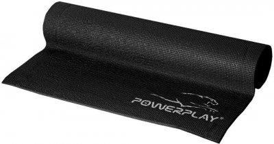 Килимок для фітнесу та йоги PowerPlay 4010 173х61х0.6 см Чорний (PP_4010_Black_(173*0.6))