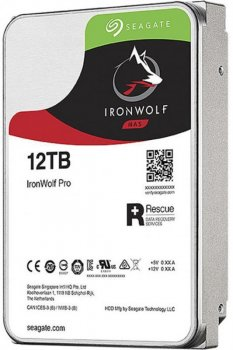 Накопичувач HDD SATA 12.0 TB Seagate IronWolf Pro NAS 7200rpm 256MB (ST12000NE0008)