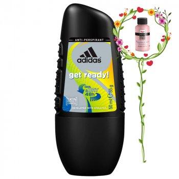Дезодорант шариковый Adidas Anti-Perspirant Get Ready Cool&Dry 48h (3607349806521)