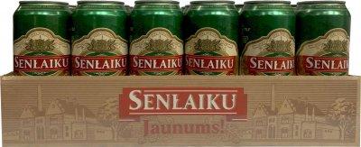 Упаковка пива Livu Senlaiku 8 светлое фильтрованное 5.5% 0.5 л х 24 шт (4750132005775)