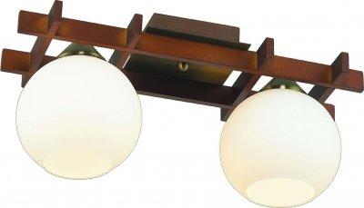 Стельовий світильник Altalusse INL-3089C-02 Antique brass & Walnut Е27 2Х60Вт