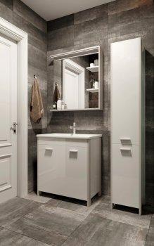 Зеркало JUVENTA Brooklyn BrM-65 85х65 см с LED-подсветкой белое
