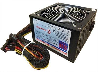 Блок живлення FrimeCom SM500R 500W, 12см, PCI-E, без кабелю живлення