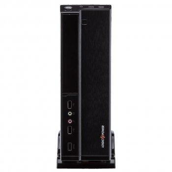 Корпус Logicpower S620-400w Slim 8см, 2хUSB2.0, Black