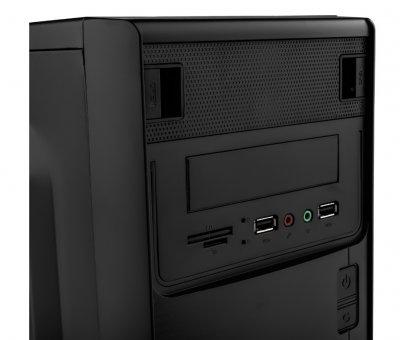 Корпус Logicpower 6103-500w 12см, 2хUSB2.0, Black