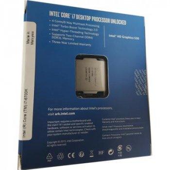 Процесор Intel Core i7 6700K 4.0 GHz (8mb, Skylake, 91W, S1151) Box (BX80662I76700K) no cooler