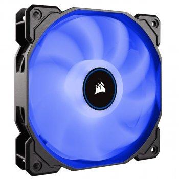 Вентилятор Corsair AF140 LED (2018) Blue (CO-9050087-WW), 140х140х25мм, 3-pin, чорний