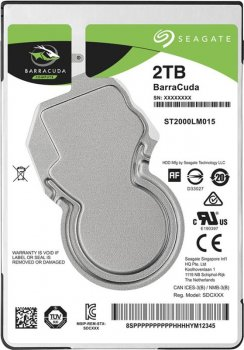 "Накопичувач HDD 2.5"" SATA 2.0 TB Seagate BarraCuda 5400rpm 128MB (ST2000LM015)"