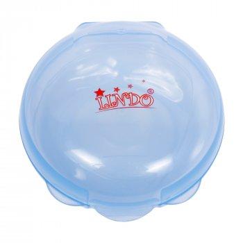 Силіконові Накладки Lindo для грудей в контейнері набір 2шт сині