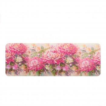 """Килимок у ванну STENSON """"Квіти"""" 45 х 120 см (R82474) Хризантеми"""