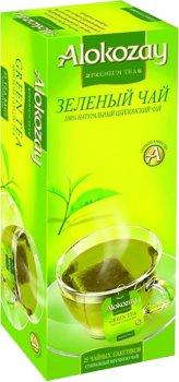 Упаковка зеленого чая Alokozay 3 пачки по 25 пакетов (4820229040733)