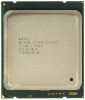 Процесор Intel Xeon E5-2650 (S2011/8x2.0GHz/8GT/s/20MB/95Вт/BX80621E52650) Б/У
