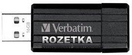 VERBATIM PinStripe USB 16GB Black (49063)