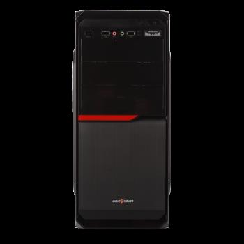 Корпус LP 2010 БЕЗ БП black case chassis cover с 2xUSB2.0