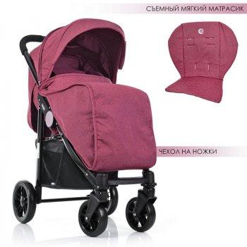 Коляска детская El Camino ME 1027L TEMPO Sangria прогулочная Розовая (int_ME 1027L-S)