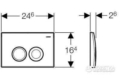 Панель смыва GEBERIT Delta хром 115.125.21.1