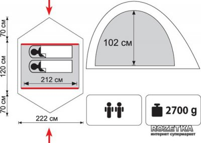 Палатка Tramp Sarma 2 (v2) (TRT-030)