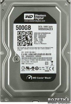 Жорсткий диск Western Digital Black 500GB 7200rpm 64MB WD5003AZEX 3.5 SATA III