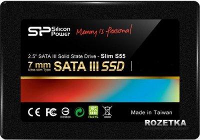 """Silicon Power Slim S55 240GB 2.5"""" SATAIII TLC (SP240GBSS3S55S25)"""