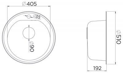 Кухонная мойка METALAC X GRANIT VENERA E (113004) бежевый + сифон