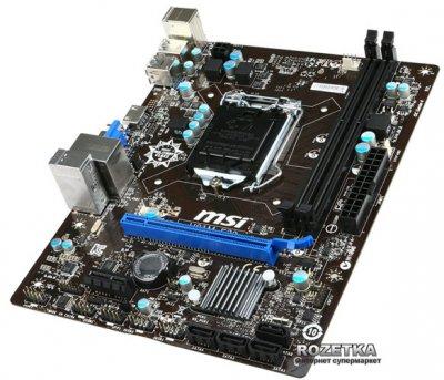Материнская плата MSI H81M-E33 (s1150, Intel H81, PCI-E 2.0x16)