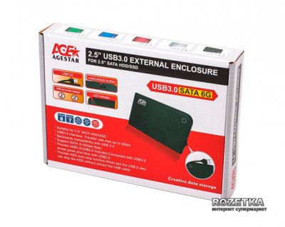 "Внешний карман Agestar для HDD 2.5"" USB3.0 (3UB 2A14 Black)"