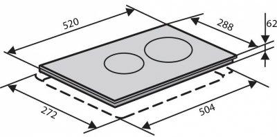 Варочная поверхность электрическая Domino VENTOLUX VB 62 Touch Control