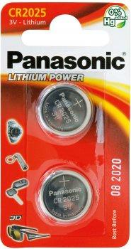 Батарейки Panasonic литиевые CR2025 блистер, 2 шт (CR-2025EL/2B)