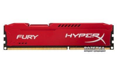 Оперативна пам'ять HyperX DDR3-1600 8192MB PC3-12800 FURY Red (HX316C10FR/8)