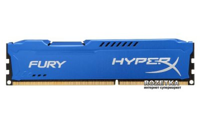 Оперативна пам'ять HyperX DDR3-1600 16384MB PC3-12800 (Kit of 2x8192) FURY Blue (HX316C10FK2/16)