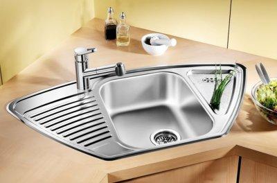 Кухонна мийка BLANCO TIPO 9 E (511582) + зливний гарнітур (221093)