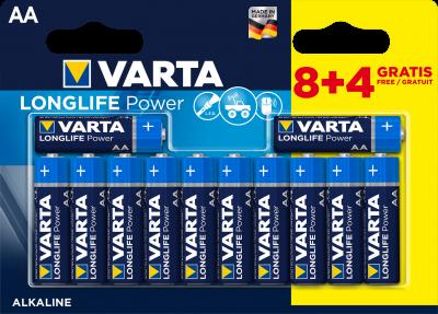 Батарейка Varta Longlife Power AA BLI 12 (8+4) Alkaline (04906121472) (4008496659234)