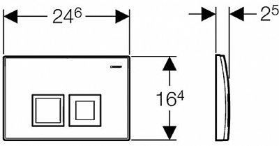 Панель смыва GEBERIT Delta 50 хром глянцевый 115.135.21.1
