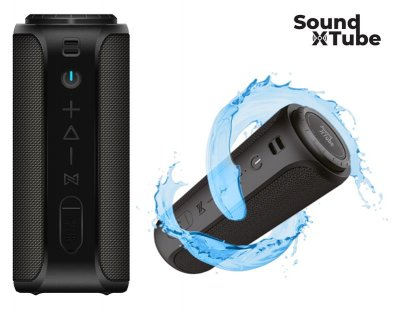 Акустическая система 2E SoundXTube TWS, MP3, Wireless, Waterproof Black (2E-BSSXTWBK)