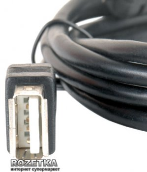 Подовжувач Gemix USB 2.0 AM - AF 3 м з феритовим фільтром (GC 1615-3)
