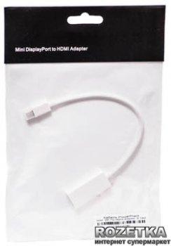 Кабель-перехідник PowerPlant mini DisplayPort - HDMI 0.15 м (KD00AS1238)