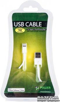 Кабель PowerPlant USB - Lightning (iPhone 5, 5S, 6) 1 м (DV00DV4042)