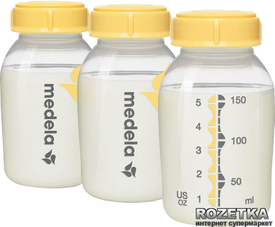 Пляшечка для збору і зберігання грудного молока Medela 3 х 150 мл (008.0073)