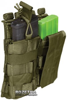 Подсумок тактический двойной для магазинов 5.11 Tactical AR Bungee/Cover Double 56157 Tac OD (2000980325825)