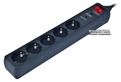 Мережевий фільтр EnerGenie SPG5-C-15 4.5 м 5 розеток Black
