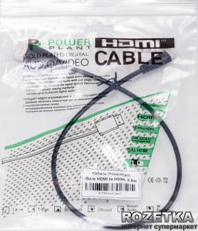 Кабель PowerPlant HDMI - micro HDMI 0.5 м, позолочені конектори, v1.3 (KD00AS1241)