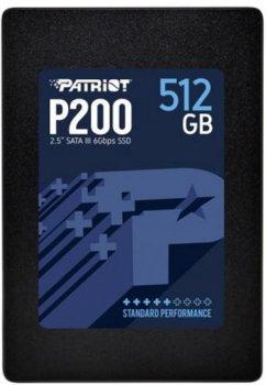 """Patriot P200 512GB 2.5"""" SATAIII TLC (P200S512G25)"""