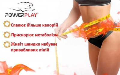 Пояс для схуднення PowerPlay 4301 100x30 см Чорний (PP_4301_Black_100)