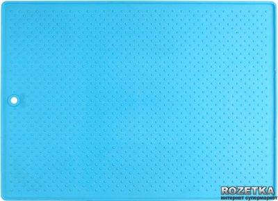 Великий антиковзаючий килимок під миски для собак і кішок Dexas Блакитний (dx30677)