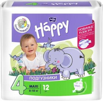 Підгузники дитячі Bella Baby Happy Maxi 8-18 кг 12 шт (5900516600372)