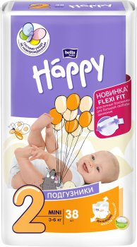 Підгузники дитячі Bella Baby Happy Mini 3-6 кг 38 шт (5900516600709)