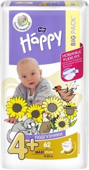 Підгузники дитячі Bella Baby Happy Maxi Plus 9-20 кг 62 шт (5900516601140)