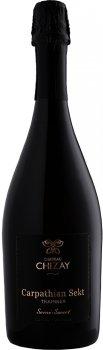 Вино ігристе Chateau Chizay Carpathian Sekt Трамінер біле напівсолодке 0.75 л 11.3% (4820001633801)