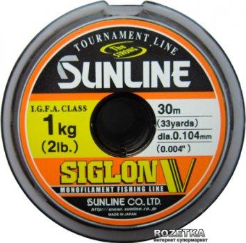 Леска Sunline Siglon V 30 м #0.4/0.104 мм 1 кг (16580487)