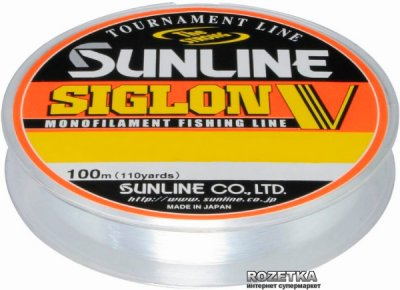 Леска Sunline Siglon V 100 м #0.6/0.128 мм 1.5 кг (16580496)